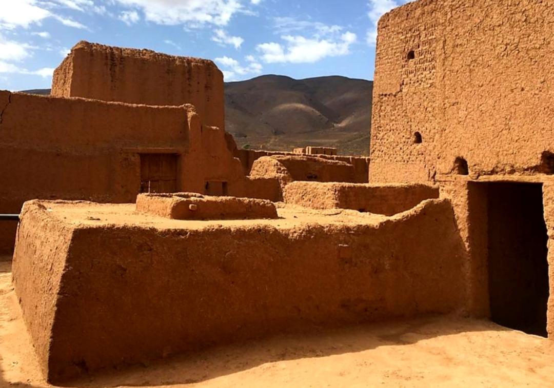 Terrasse d'une Kasbah Marocaine