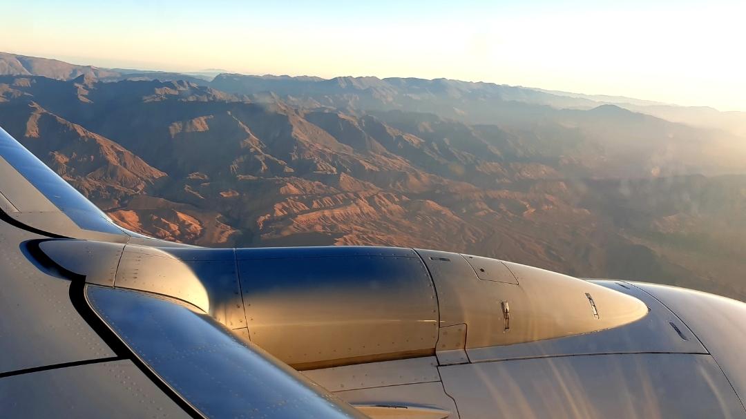 vue d'avion sur l'Atlas au départ de Ouarzazte