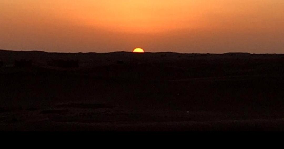 sunset dans les dunes